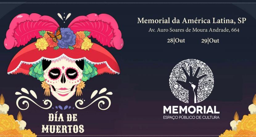 Fiesta de Día de Muerto no Memorial da America Latina: um passeioimperdível